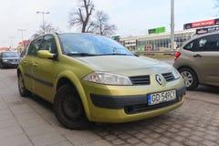 Renault Megane ΙΙ που σταθμεύουν Στοκ Εικόνες
