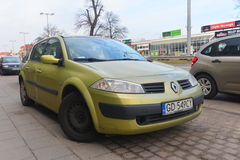 Renault Megane II garé Photo stock