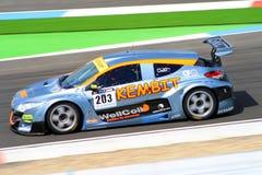 Renault Megane Racecar en el circuito Assen, Drente, Holanda, los Países Bajos del TT Foto de archivo