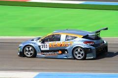 Renault Megane Racecar på TT-strömkretsen Assen, Drenthe, Holland, Nederländerna arkivfoton