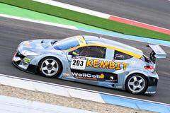 Renault Megane Racecar på TT-strömkretsen Assen, Drenthe, Holland, Nederländerna Royaltyfri Bild