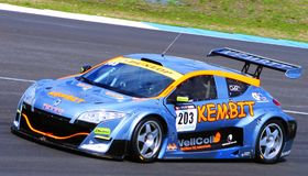 Renault Megane Racecar on TT Circuit Assen, Drenthe, Holland, the Netherlands Stock Images