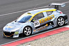 Renault Megane Racecar on TT Circuit Assen, Drenthe, Holland, the Netherlands Royalty Free Stock Photo