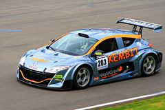 Renault Megane Racecar on TT Circuit Assen, Drenthe, Holland, the Netherlands Stock Photography