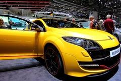 Renault megane RS yellow Royalty Free Stock Images