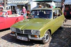 Renault oldtimer przy samochodowym przedstawieniem obraz royalty free