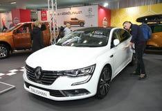 Renault på den Belgrade Car Show fotografering för bildbyråer