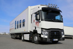 Renault pasma T ciężarówka dla dalekiego zasięgu Fotografia Royalty Free