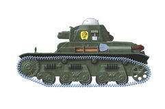 Renault R-35. Hand drawn illustration of french ww2 tank Royalty Free Stock Photography