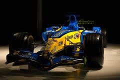 Renault R25 di F1 con cui Fernando Alonso era campione del mondo fotografia stock libera da diritti