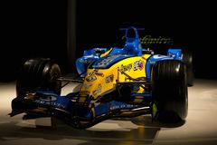 Renault R25 of F1 with which Fernando Alonso was world champion royalty free stock photo