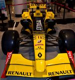 Renault R30 Formula One car driven by Robert Kubica in a mall. stock photography