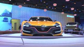 Renault R. S. 01. MOSCOW, August 28: The world premiere racing coupe of Renault R. S. 01 at the Moscow International Automobile Salon on August 28. 2014 in