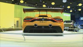 Renault R.S.01. MOSCOW, August 28: The world premiere racing coupe of Renault R.S.01 at the Moscow International Automobile Salon on August 28.2014 in Moscow