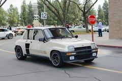 Renault R5 Turbo classic car on display Stock Photos
