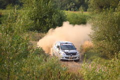 Renault Rally Car Lizenzfreies Stockfoto