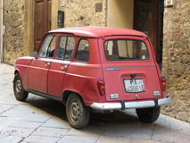 Renault 4 red Royalty Free Stock Photo