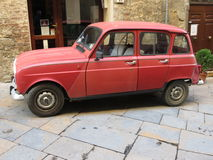Renault 4 red Royalty Free Stock Photography