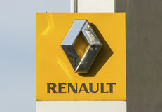 Renault Sign Logo Foto de Stock Royalty Free