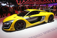 Renault Sport bij de Motorshow van Parijs - Oct 2014 Stock Afbeelding