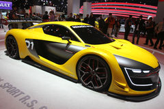 Renault sport przy Paryskim Motorowym przedstawieniem 2014 Obrazy Stock