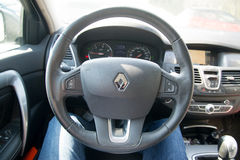 Renault steering wheel Stock Photography