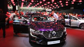 Renault Talisman at the IAA 2015 stock video footage