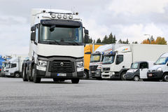 Renault Truck Tractor T480 Driven on Truck Yard Stock Image
