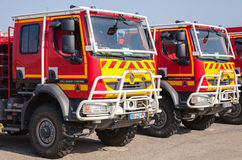 Renault trucks of French civil defense Royalty Free Stock Photos