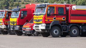Renault trucks of French civil security forces Royalty Free Stock Photos