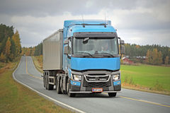 Renault Trucks T Semi on Autumn Road Stock Images