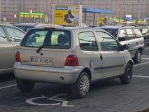 Renault Twingo parkował Obrazy Stock