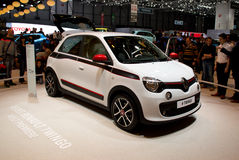 Renault Twingo Premiere Geneva 2014 Stock Afbeelding
