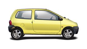 Renault Twingo side view Royalty Free Stock Photography