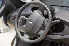 Renault Twizy car interior dashboard. Kiev Plug-in Ukraine 2017 Exhibition. Royalty Free Stock Photography