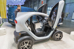 Renault Twizy electric car on Kiev Plug-in Ukraine 2017 Exhibition. Royalty Free Stock Image