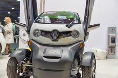 Renault Twizy electric car on Kiev Plug-in Ukraine 2017 Exhibition. stock photo