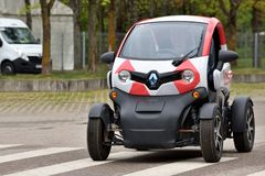 Renault Twizy Electric Car royalty-vrije stock foto's