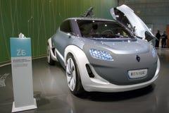 Renault Zoe - de Genebra mostra 2010 de motor Imagem de Stock