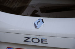 RENAULT ZOE ELECTIC CAR Royalty Free Stock Photo