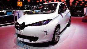 Renault Zoe electric hatchback car stock video footage