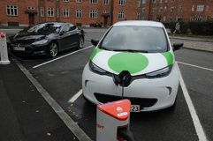 Renault Zoe elektryczny samochód Fotografia Stock