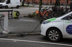 Renault Zoe elektryczny samochód Zdjęcia Royalty Free