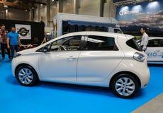Renault Zoe wystawiający przy MOTO przedstawieniem w Krakowskim Polska obraz royalty free