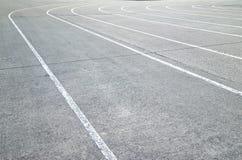 Renbaan op concrete vloertextuur Stock Foto