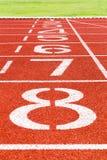 Renbaan voor atletiek en sport Stock Foto