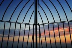 Rence con il tramonto immagini stock