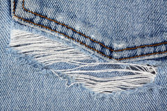 Rend jeans. Macro of rend jeans / texture Stock Photo