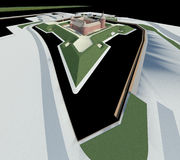 Renda: citadelle Ilustração Stock