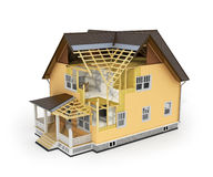 Renda da casa no processo da construção Foto de Stock